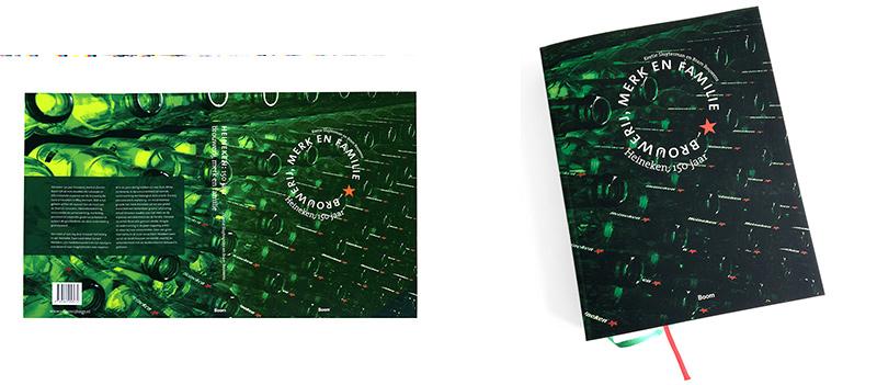 Drukproef boekomslag Heineken: 150jaar, fotografie Bert Bulder